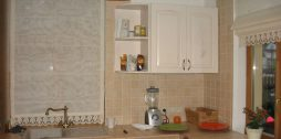 romiešu aizkari virtuvei