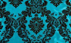 Blue night curtain fabrics