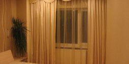 aizkaru noformējums guļamistabai