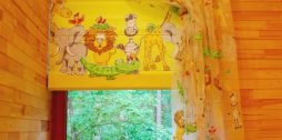 bērnu istabas aizkari dzelteni