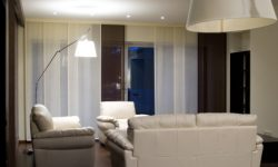 white and brown curtain panels