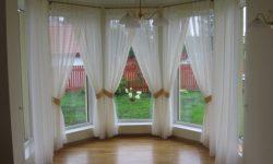 white daytime curtains