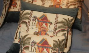 decorative pillows in a classic interior