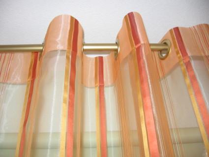 оранжевые шторы с люверсами