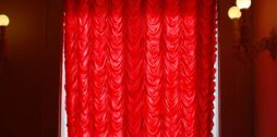 wonderful red french blinds